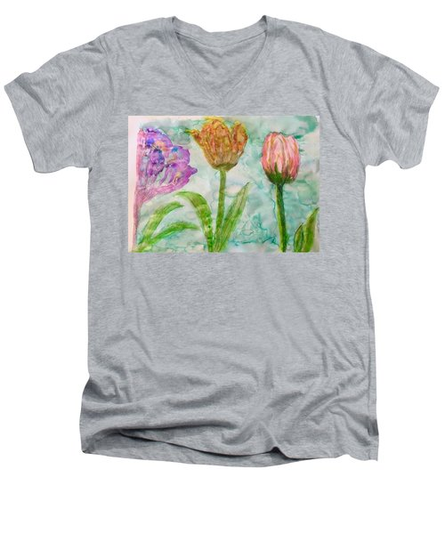Tulips A'bloom Men's V-Neck T-Shirt