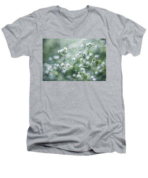Flowers Men's V-Neck T-Shirt by Jaroslaw Grudzinski