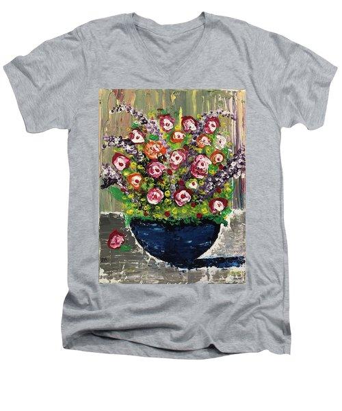 Flowers Men's V-Neck T-Shirt