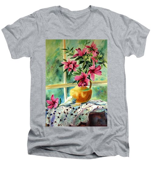 Flowers Shells And Lace Men's V-Neck T-Shirt