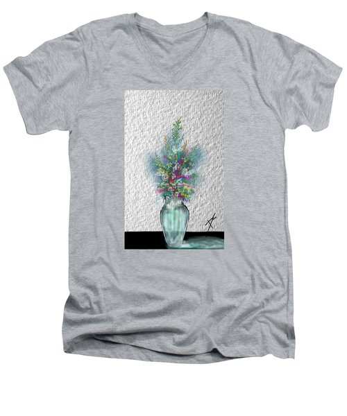 Flowers Study Two Men's V-Neck T-Shirt by Darren Cannell