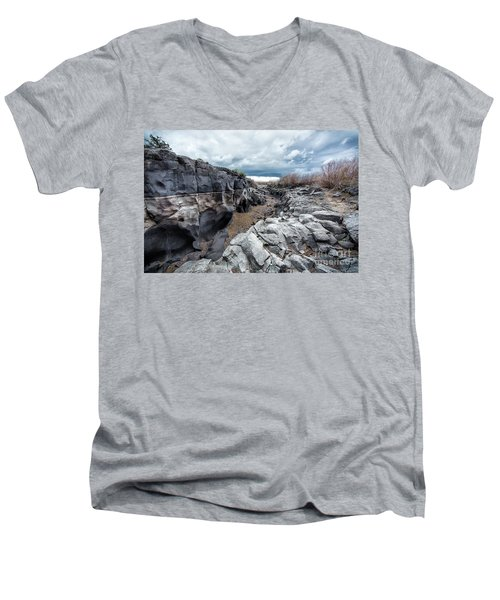 Flowing To The Storm Idaho Journey Landscape Art By Kaylyn Franks Men's V-Neck T-Shirt