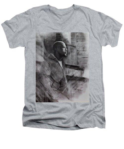 Reflections Of Floyd Mayweather Men's V-Neck T-Shirt by Noe Peralez