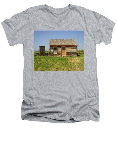 Flueitt Simons Cabin Men's V-Neck T-Shirt