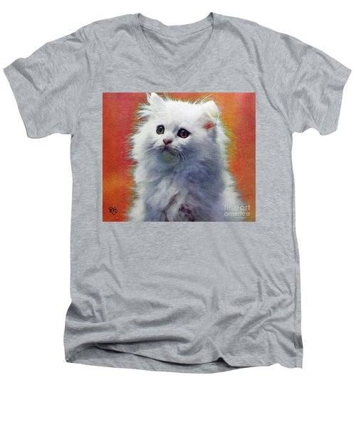 Fluffy Princess Men's V-Neck T-Shirt