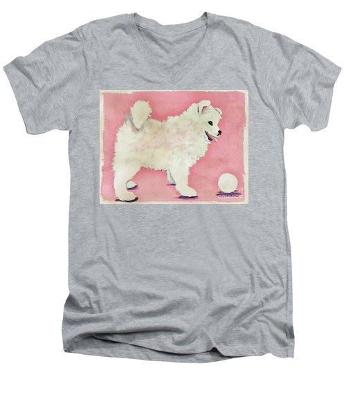 Fluffy Pup Men's V-Neck T-Shirt