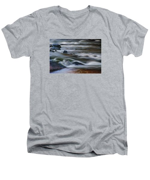 Fluid Motion Men's V-Neck T-Shirt by Steven Richardson