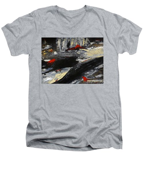 Flume 2 Men's V-Neck T-Shirt by Dick Bourgault