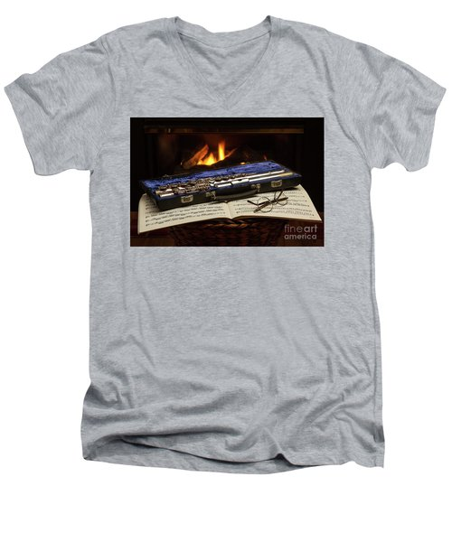 Flute Still Life Men's V-Neck T-Shirt