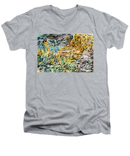 Flutes Breath Men's V-Neck T-Shirt by Alfred Motzer
