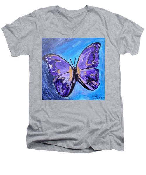 Flutterby Bring The Light Men's V-Neck T-Shirt