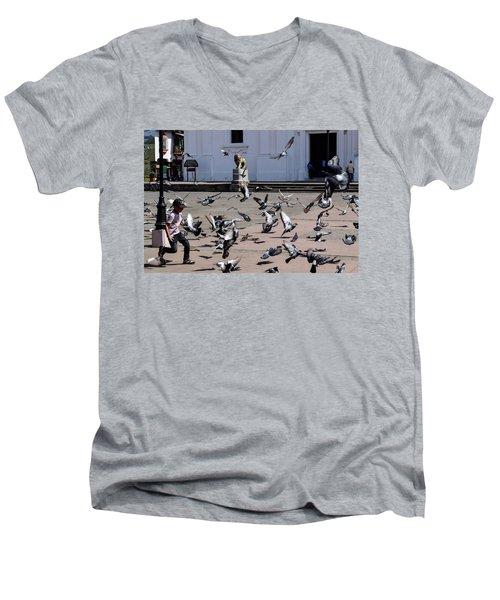 Fly Birdies Fly Men's V-Neck T-Shirt