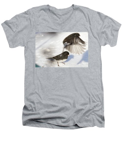 Fly By Men's V-Neck T-Shirt by Gary Wightman