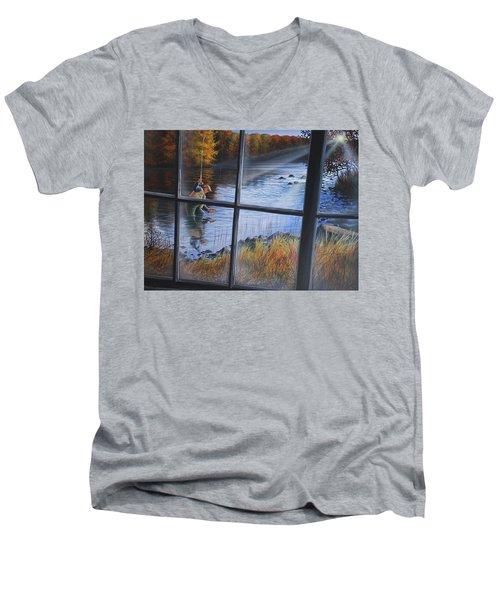 Fly Fisher Men's V-Neck T-Shirt