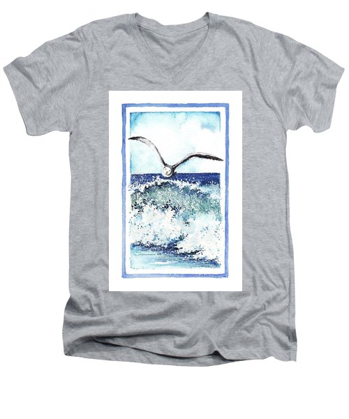 Men's V-Neck T-Shirt featuring the painting Fly High by Heidi Kriel