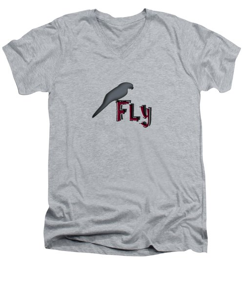 Fly Men's V-Neck T-Shirt by Mim White