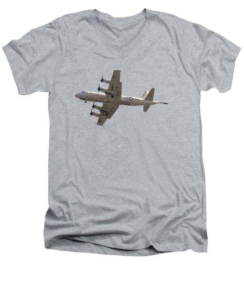 Fly Navy T-shirt Men's V-Neck T-Shirt by Bob Slitzan