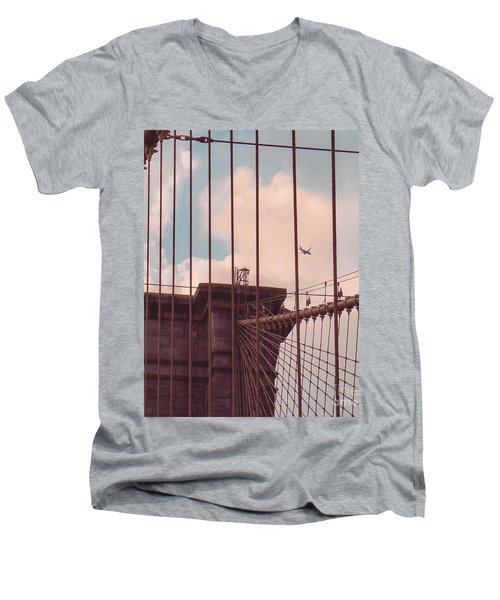 Fly Over Brooklyn  Men's V-Neck T-Shirt