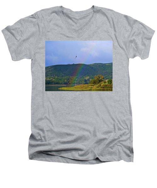 Fly Over The Rainbow Men's V-Neck T-Shirt