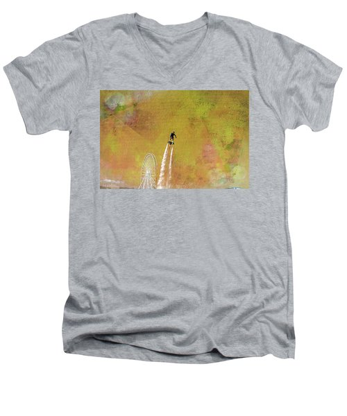 Flyboard, Sketchy And Painterly Men's V-Neck T-Shirt