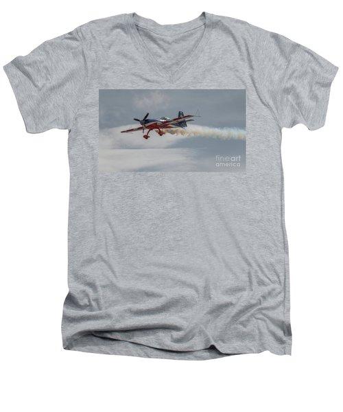 Flying Acrobatic Plane Men's V-Neck T-Shirt