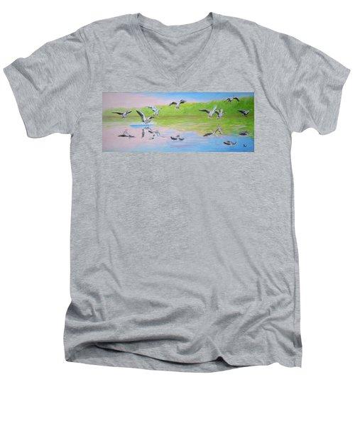 Flying Geese Men's V-Neck T-Shirt