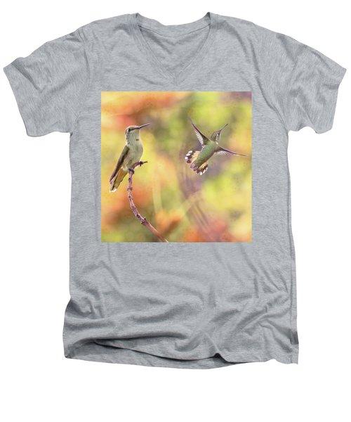 Flying Gems Men's V-Neck T-Shirt
