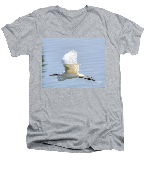 Flying Heron Men's V-Neck T-Shirt