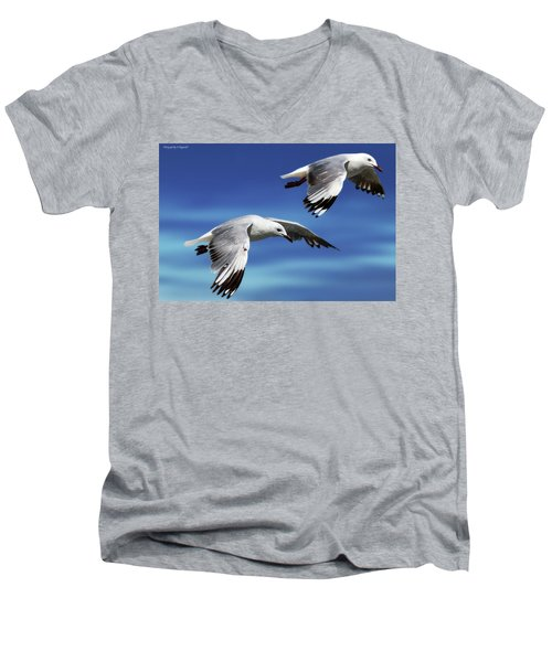 Flying High 0064 Men's V-Neck T-Shirt