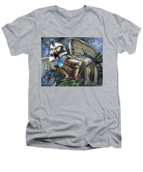 Flying Monkey Men's V-Neck T-Shirt