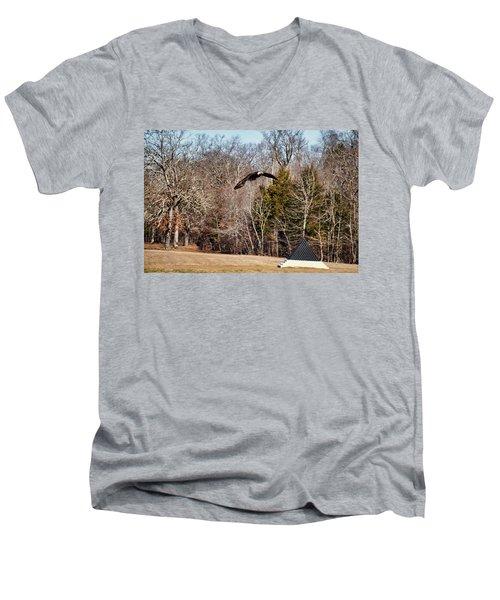 Flying Over Cloud Field Men's V-Neck T-Shirt by TnBackroadsPhotos