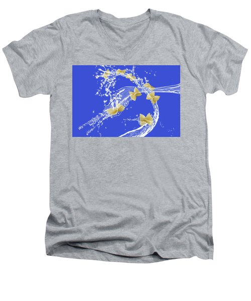 Flying Pasta Men's V-Neck T-Shirt