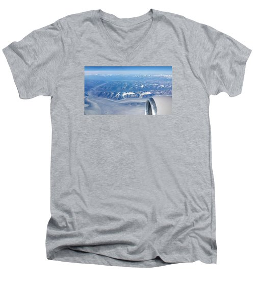 Flying Through Men's V-Neck T-Shirt