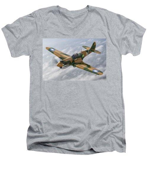 Flying Tiger Men's V-Neck T-Shirt
