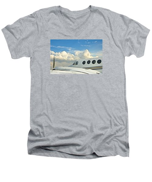 Men's V-Neck T-Shirt featuring the photograph Flying Time by Carolyn Marshall