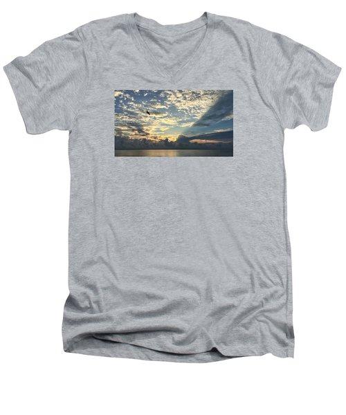 Flying To The Left Men's V-Neck T-Shirt