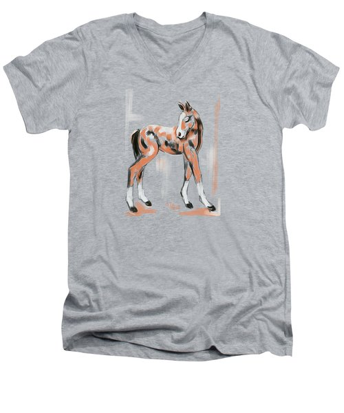 Foal Peach Men's V-Neck T-Shirt