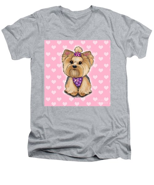 Fofa Hearts Men's V-Neck T-Shirt