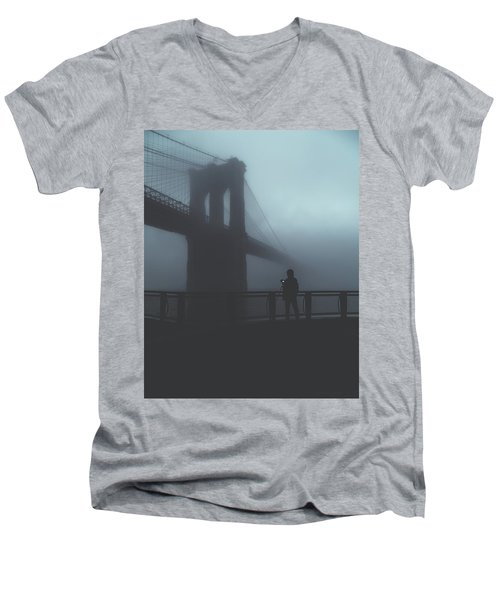 Fog Life  Men's V-Neck T-Shirt by Anthony Fields