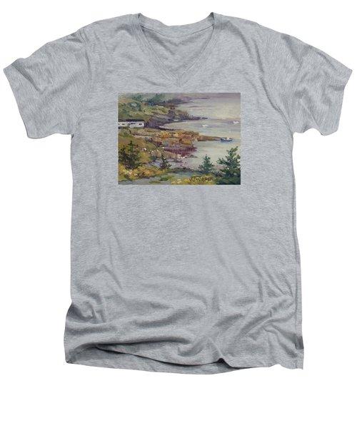 Fog Lifting Men's V-Neck T-Shirt by Jane Thorpe