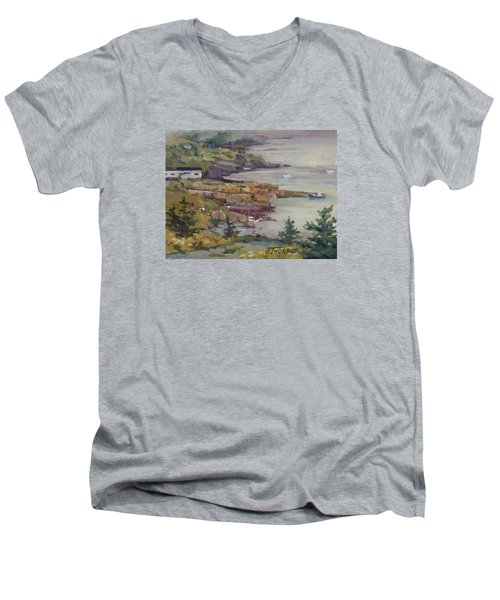 Fog Lifting Men's V-Neck T-Shirt