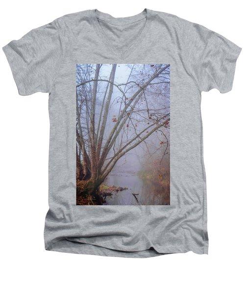 Fog On Buffalo Creek 1 Men's V-Neck T-Shirt