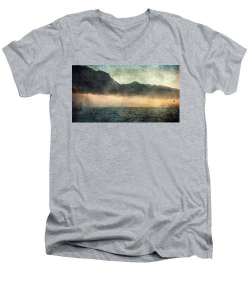 Fog On Garda Lake Men's V-Neck T-Shirt
