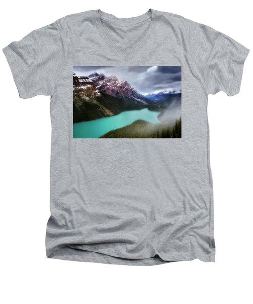 Fog Swirls Men's V-Neck T-Shirt by Nicki Frates