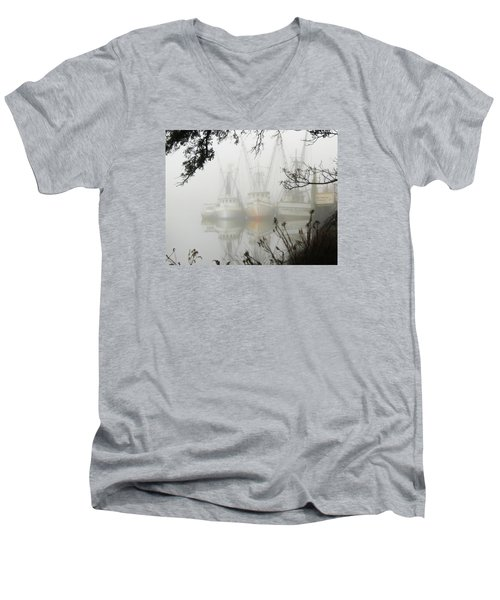 Men's V-Neck T-Shirt featuring the photograph Fogged In by Deborah Smith
