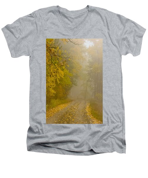 Foggy Autumn Morn Men's V-Neck T-Shirt