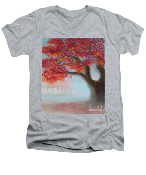 Foggy Autumn Men's V-Neck T-Shirt