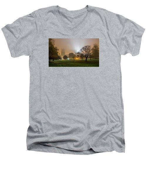 Foggy Cathedral Men's V-Neck T-Shirt