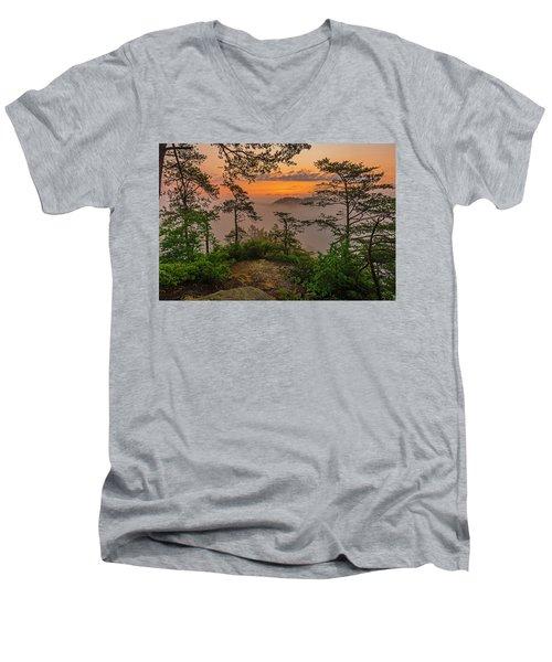 Foggy Dawn. Men's V-Neck T-Shirt