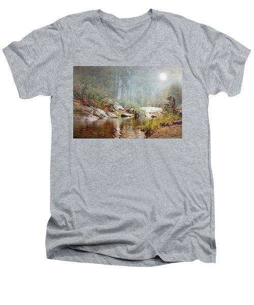 Foggy Fishin Hole Men's V-Neck T-Shirt